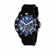 Montre étanche CHRONO Noir/Cadran Bleu 2457