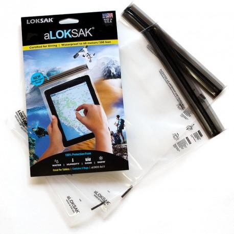 Pochette étanche tablette 19.7 x 26.7 cm avec double zipper