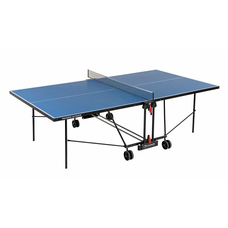 Tennis de table ext rieur garlando plateau bleu for Table exterieur de ping pong