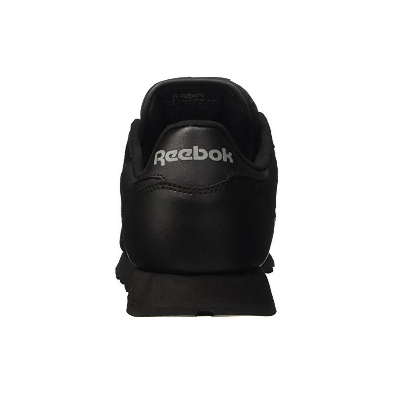 Classic Leather, Baskets Basses Femme, Noir (Black), 39 EUReebok