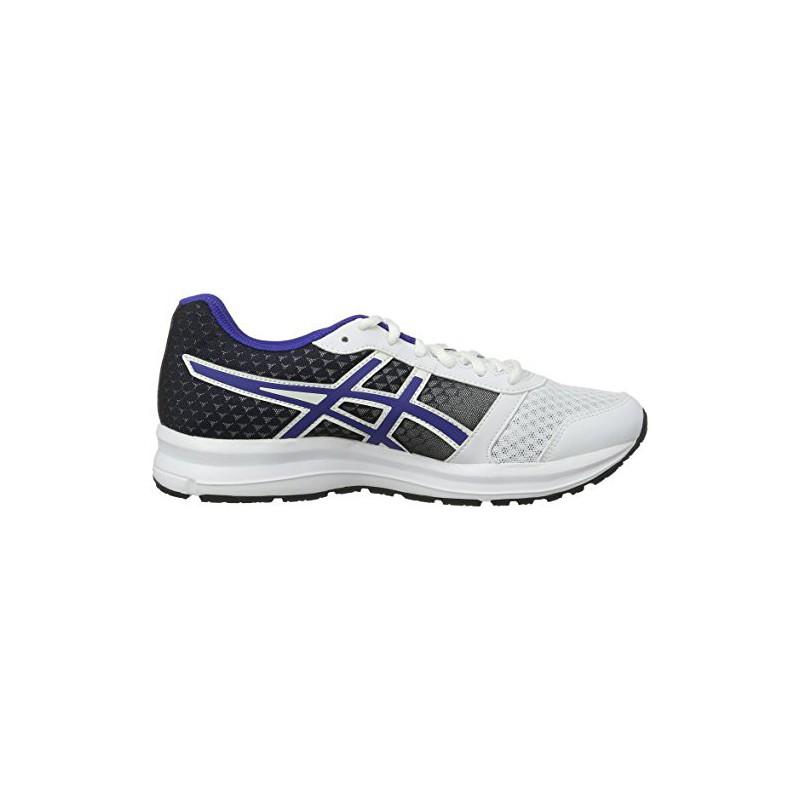 Asics Patriot 8, Chaussures de Running Compétition Homme, Multicolore (White Blue/Black), 39 EU